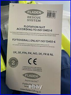 1pc Fladen floatation flotation suit, immersion, fishing, boating Size Small