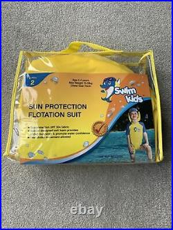 Child Kids Swim Swimming Sun Protection Buoyancy Floatation Suit Age 2 4 years
