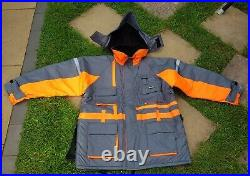 FISHEAGLE Expert Grey Thermal Fishing Floatation Suit 2 Piece Set XL Brand New