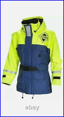 FLADEN RESCUE SYSTEM Blue and Yellow SCANDIA Flotation Jacket Marine Buoy