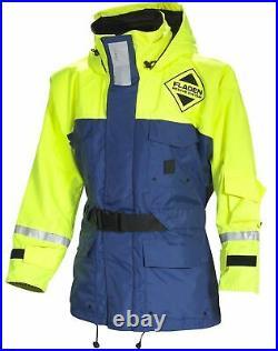 FLADEN RESCUE SYSTEM Blue and Yellow SCANDIA Flotation Jacket Marine Buoy