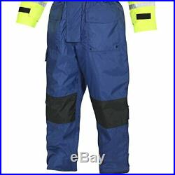 FLADEN RESCUE SYSTEM One Piece Blue and Yellow SCANDIA Flotation Suit