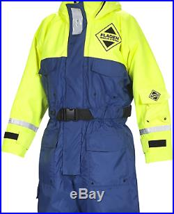 FLADEN RESCUE SYSTEM One Piece Blue and Yellow SCANDIA Flotation Suit and