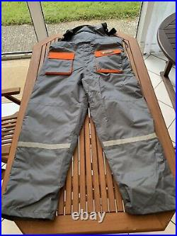 Fisheagle Grey/Orange Thermal Floatation Suit Jacket And Trousers XXXL Used Once