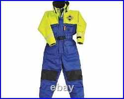 Fladen Fishing Flotation Suit, 1 piece All sizes BLUE & YELLOW NEW STOCK