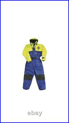 Fladen Fishing Flotation Suit, 1 piece Size Large Blue And Yellow, New With Tags
