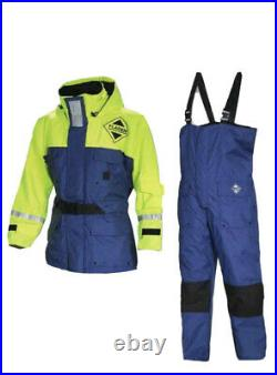 Fladen Fishing Flotation Suit, 2 Piece Size Large Blue And Yellow, New With Tags