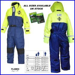 Fladen Floatation Suit 1 Pc Offshore Suit Immersion Fishing Sailing LARGE