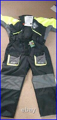 Fladen Floatation Suit 1 Pc Offshore Suit Immersion Fishing Sailing XL
