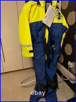 Fladen Floatation Suit Flotation Suit Immersion Fishing Sailing Boating size S