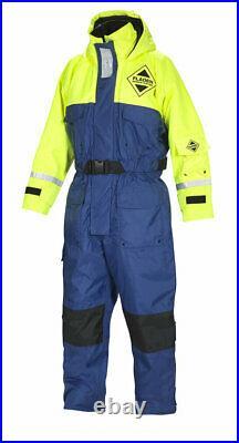 Fladen Flotation Suit 845, Schwimmanzug, Blau-Gelb, XXS bis XXL, Floatinganzug