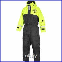 Fladen Flotation Suit 845, Schwimmanzug, Gelb/Schwarz, XXS bis XXL, Floatinganzug
