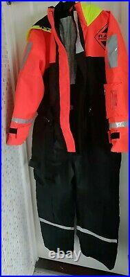 Fladen Flotation Suit One Piece Rescue System Black/Orange large