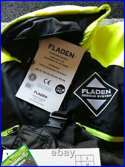 Fladen Flotation Suit Two Piece Rescue System Black/Yellow Large. New With Tags