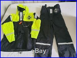Fladen Flotation Suit Two Piece Rescue System Black/Yellow. Size L RRP £185.00