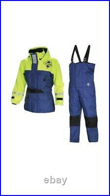 Fladen Flotation Suit Two Piece Rescue System Blue/Yellow Large. New With Tags