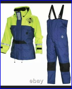 Fladen Flotation Suit Two Piece Rescue System Blue/Yellow Medium. New With Tags