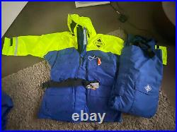 Fladen Flotation Suit Two Piece Rescue System Blue/Yellow XXLarge New With Tags