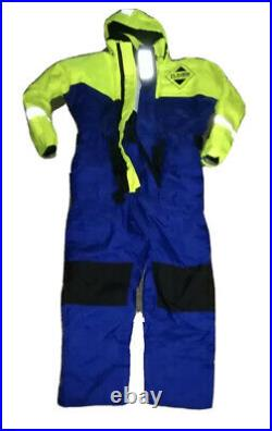 Fladen Rescue System flotation suit L NEW Unisex yellow & Blue Navy
