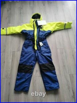 Fladen Rescue System flotation suit L NEW Unisex yellow & Blue Navy