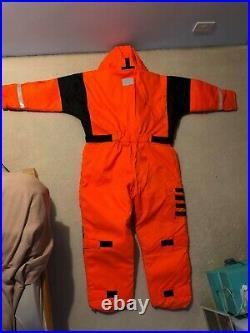 Fladen Rescue System flotation suit XL NEW Unisex Orange
