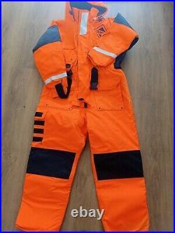 Fladen flotation suit one piece size medium