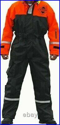 Flotation Suit Fladen Schwimmanzug 848-R rot/schwarz Gr. L Thermo-Overall