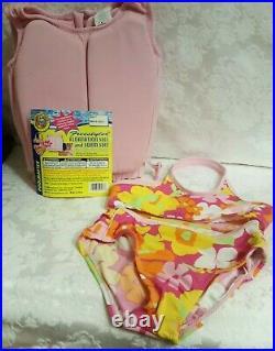 Girls Pink Size 4t Floatation Jacket & Swim Suit/aid Poolmaster Freestyler New