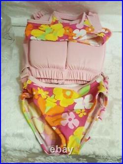 Girls Pink Size 7 Floatation Jacket & Swim Suit/aid Poolmaster Freestyler New