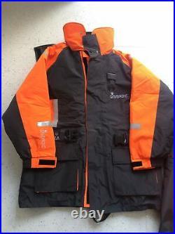 IMAX Floatation Suit Jacket & Bib and Brace Trousers size Large L Never Worn