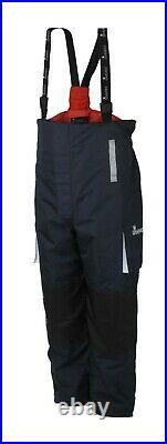 IMax CoastFloat Floatation Suit Navy/Red Braces Boatsuit Size Medium Waterproof