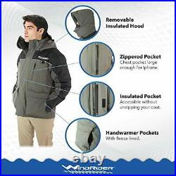 Ice Fishing Suit Insulated Bibs and Jacket Flotation Tons of Large