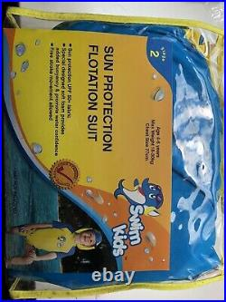Kids Sun Protection Floatation Suit 4-6yrs Swimming UPF 50+