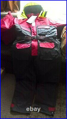 Mullion North Sea 1- piece Flotation Suit, red/black, size M (with tags)