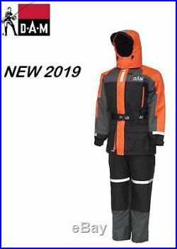 NEW 2019 DAM Outbreak Floatation Suit 2pcs Orange/Black S 3XL Boat Safety Sail