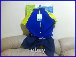 NEW Speedo Kids Royal/Lime Uv 2-piece Flotation Suit Size M/L for age 2-4