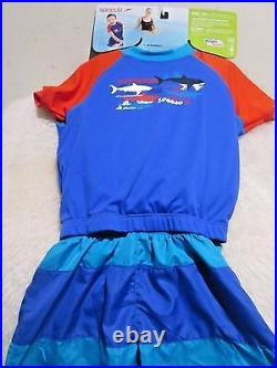 NEW Speedo Kids Surf UV 2-piece Flotation Suit (Size S/M) Age 1-2 (15 kgs)