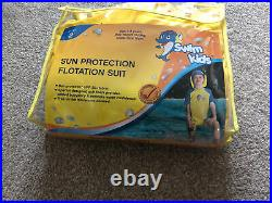 NEW Swim Kids Sun Protection Floatation Suit Swimming Aid Age 2-4 Yrs