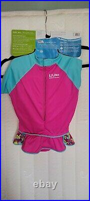 New Speedo Kids UV 50+ Floatation Suit With Skirt Girls M/L Age 2-4 33-45 Lbs