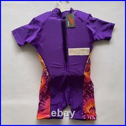 New Speedo Youth Purple Polywog Flotation Suit Size M 33-45 lbs UV Protection