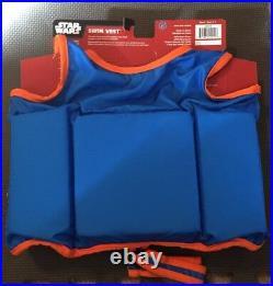 New Swimways Toddler Boys Star Wars BB-8 Swim Vest Polywog Flotation Suit 2-4