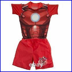 SwimWays Marvel Iron Man Deluxe Float Shorty, M/L (3-4) Pool Floatation Suit