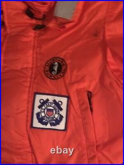 US Coast Guard Mustang Flotation Survival Suit-Type V-PDF with Tags. Size L