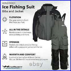 WindRider Ice Fishing Suit Insulated Bibs and Jacket Flotation Tons of